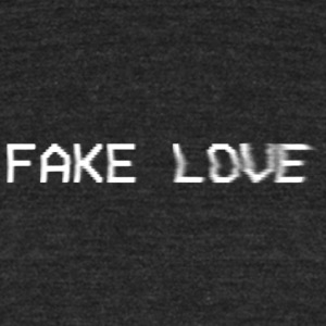 Fake Love - Unisex Tri-Blend T-Shirt by American Apparel