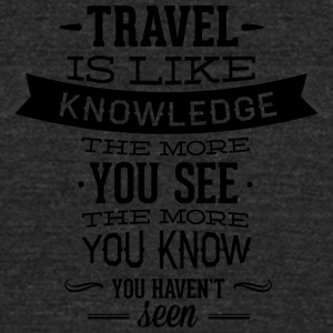 travel_like_knowledge - Unisex Tri-Blend T-Shirt by American Apparel