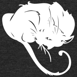 Furry_ball_white_cat - Unisex Tri-Blend T-Shirt by American Apparel