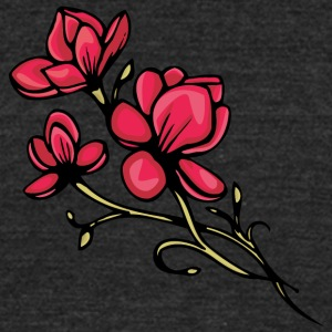 red_flowers - Unisex Tri-Blend T-Shirt by American Apparel