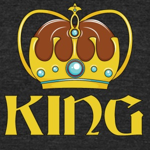 KING CROWN - Unisex Tri-Blend T-Shirt by American Apparel