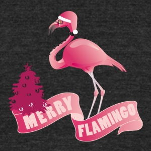 MERRY FLAMINGO - Unisex Tri-Blend T-Shirt by American Apparel