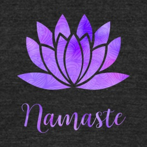 Namaste Lotus Flower - Unisex Tri-Blend T-Shirt by American Apparel