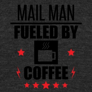 Mail Man Fueled By Coffee - Unisex Tri-Blend T-Shirt by American Apparel