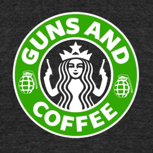 Guns and Coffee - Unisex Tri-Blend T-Shirt by American Apparel