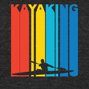 Vintage Kayaking Graphic - Unisex Tri-Blend T-Shirt by American Apparel