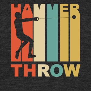 Vintage Hammer Throw Graphic - Unisex Tri-Blend T-Shirt by American Apparel