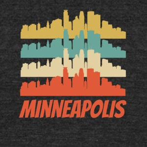 Retro Minneapolis MN Skyline Pop Art - Unisex Tri-Blend T-Shirt by American Apparel