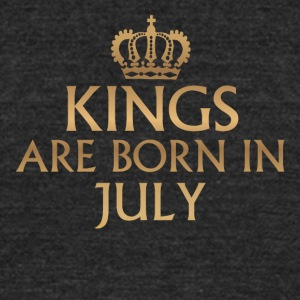 Kings are born in July - Unisex Tri-Blend T-Shirt by American Apparel
