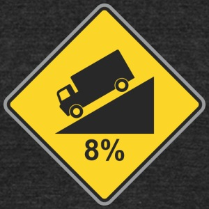 Road_Sign_8_percent_angle - Unisex Tri-Blend T-Shirt by American Apparel