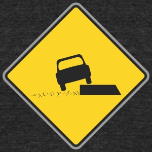 Road_Sign_car_on_board - Unisex Tri-Blend T-Shirt by American Apparel