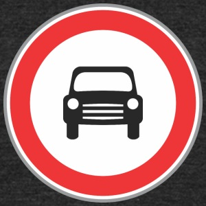 Road_sign_small_sign - Unisex Tri-Blend T-Shirt by American Apparel