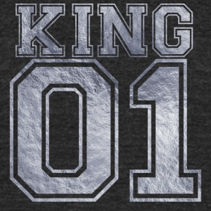 King_01_silver_1 - Unisex Tri-Blend T-Shirt by American Apparel