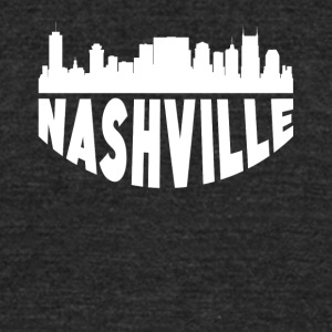 Nashville TN Cityscape Skyline - Unisex Tri-Blend T-Shirt by American Apparel