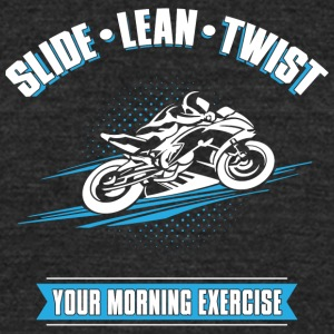 Slide Lean Twist - Unisex Tri-Blend T-Shirt by American Apparel