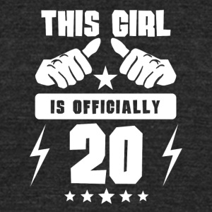 This Girl Is Officially 20 - Unisex Tri-Blend T-Shirt by American Apparel