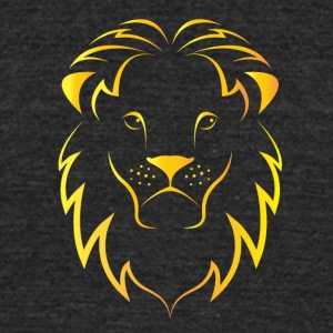 orange face lion - Unisex Tri-Blend T-Shirt by American Apparel