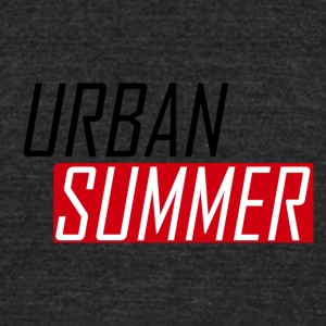 Urban Summer Logo - Unisex Tri-Blend T-Shirt by American Apparel