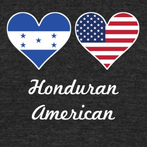 Honduran American Flag Hearts - Unisex Tri-Blend T-Shirt by American Apparel