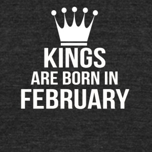 kings are born in february - Unisex Tri-Blend T-Shirt by American Apparel