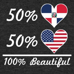 50% Dominican 50% American 100% Beautiful - Unisex Tri-Blend T-Shirt by American Apparel