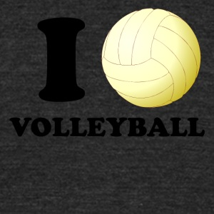 I Heart Volleyball - Unisex Tri-Blend T-Shirt by American Apparel