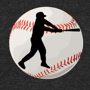 Baseball Batter Silhouette - Unisex Tri-Blend T-Shirt by American Apparel