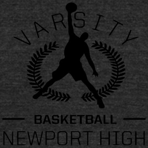 Varsity Basketball - Unisex Tri-Blend T-Shirt by American Apparel