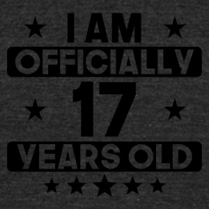 I Am Officially 17 Years Old 17th Birthday - Unisex Tri-Blend T-Shirt by American Apparel