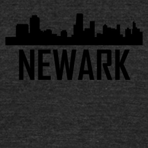 Newark New Jersey City Skyline - Unisex Tri-Blend T-Shirt by American Apparel
