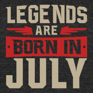 Legends Are Born in July - Unisex Tri-Blend T-Shirt by American Apparel