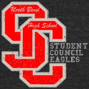 North Bend High School SC STUDENT COUNCIL EAGLES - Unisex Tri-Blend T-Shirt by American Apparel