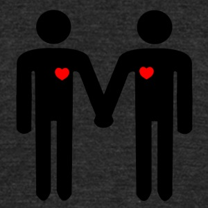 Gay men in love from Bent Sentiments - Unisex Tri-Blend T-Shirt by American Apparel