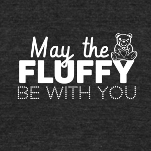 May the fluffly be with you - Unisex Tri-Blend T-Shirt by American Apparel
