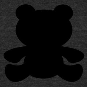 Black Bear Shadow - Unisex Tri-Blend T-Shirt by American Apparel