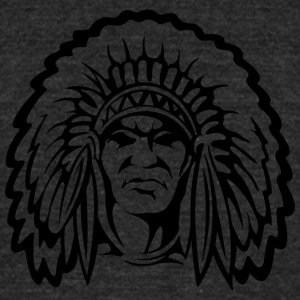 front_looking_indian_black - Unisex Tri-Blend T-Shirt by American Apparel
