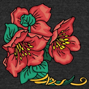 red_flower - Unisex Tri-Blend T-Shirt by American Apparel