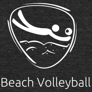 Beach_volleyball_white - Unisex Tri-Blend T-Shirt by American Apparel