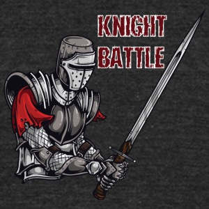 KNIGHT BATTLE - Unisex Tri-Blend T-Shirt by American Apparel