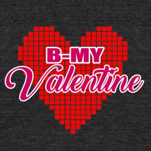 Pixel Heart Valentine - Unisex Tri-Blend T-Shirt by American Apparel