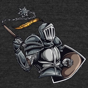 armored knight - Unisex Tri-Blend T-Shirt by American Apparel