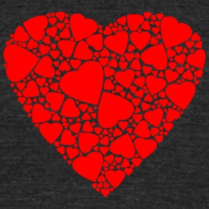 Isle_full_of_Hearts - Unisex Tri-Blend T-Shirt by American Apparel