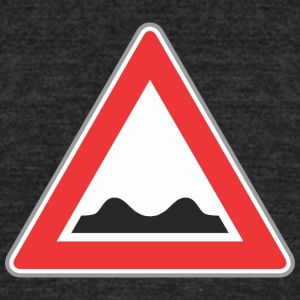 Road_sign_bad_way - Unisex Tri-Blend T-Shirt by American Apparel