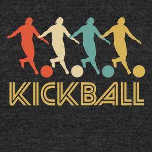 Retro Kickball Pop Art - Unisex Tri-Blend T-Shirt by American Apparel