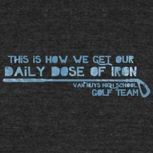 This Is How We Get Our Daily Dose Of Iron Van Nuys - Unisex Tri-Blend T-Shirt by American Apparel