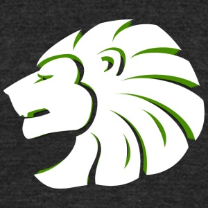 side_looking_lion_head_white_green - Unisex Tri-Blend T-Shirt by American Apparel