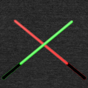 Red and Green Lightsaber Clash - Unisex Tri-Blend T-Shirt by American Apparel