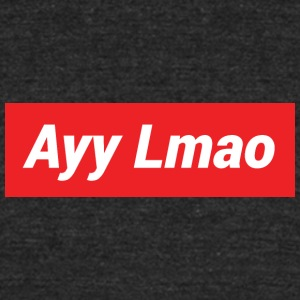 Ayy Lmao Supreme Design - Unisex Tri-Blend T-Shirt by American Apparel