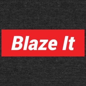 Blaze It Supreme Design - Unisex Tri-Blend T-Shirt by American Apparel