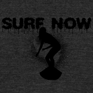 surfer_girl_4_black - Unisex Tri-Blend T-Shirt by American Apparel